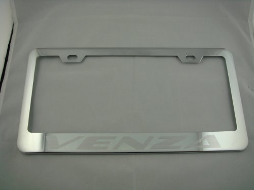 Toyota Venza Chrome License Plate Frame with Caps