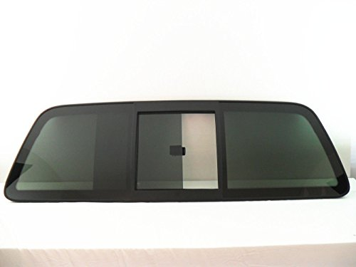 CARLITE DB9639YPY-CRL 1997-2003 Ford F150 & 1997-1999, F250 LD 2-DR Pickup Sliding Back Glass Rear Window Slider OEM with Ford Logo with Tape