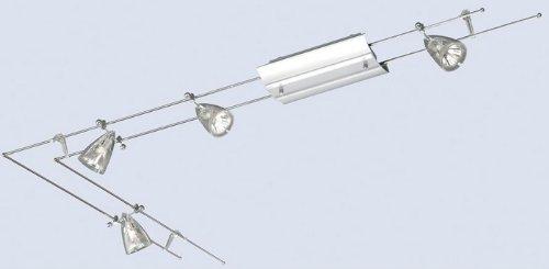 Niedervolt Schienensystem 7628 Nickel Matt 4x 20w Lampe Amazon De
