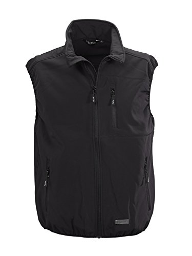 010 black Softshell Five Schwarz Panciotto