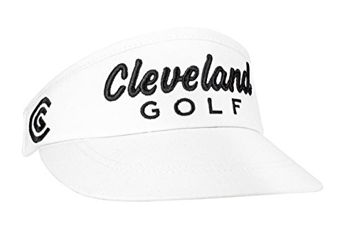 (Cleveland Golf Mens Performance Visor, White, One Size Fits All)