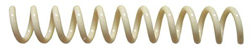 Cream Binding Coil - Spiral Binding Coils 7mm (9/32 x 36-inch) 4:1 [pk of 100] Cream (PMS 467 C)