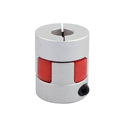 uxcell 8mm to 10mm Elastic Shaft Coupling 30mm Length 25mm Diameter Plum Motor Coupler Aluminum Alloy Joint Connector for DIY Encoder