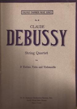 Debussy String Quartet Set of Parts, Kalmus Chamber Music Series ()