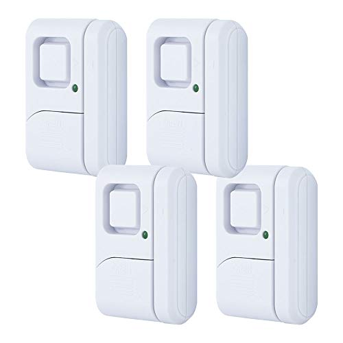 GE Personal Security Window/Door Alarm, 4-Pack, DIY Home...