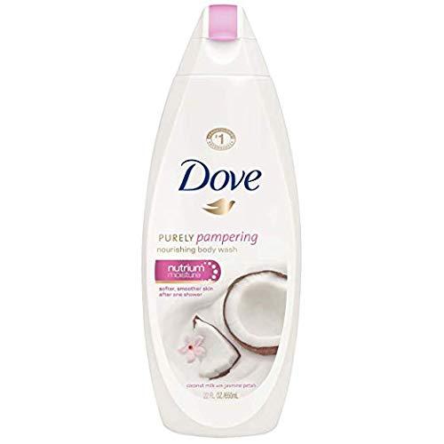 Dove Purely Pampering Coconut Oil & Jasmine Body Wash - 6 PK x 8.5 Fl.Oz / 250 ml (Dry Jasmine Oil)