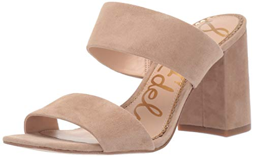 Sam Edelman Women's Delaney Heeled Sandal, Oatmeal Suede, 9.5 M US ()