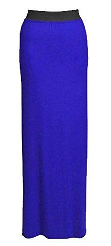 d't Bleue 42 Mlanger jupe vtements taille lastique nouvelles de long plaine Royale dames toutes MIXLOT jersey 36 jupe loisirs femmes gitanes longueur lot de couleurs maxi les pTTCS