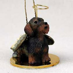 Dachshund Angel Dog Ornament (Wirehaired Dachshund Angel Ornament)