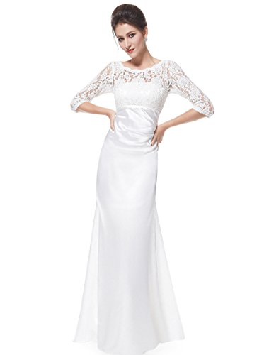 Ever Pretty Womens Formal Cheap Wedding Dress 8 US White
