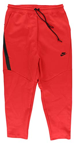 (Nike Mens Tech Fleece Cropped Pants Large Crimson )