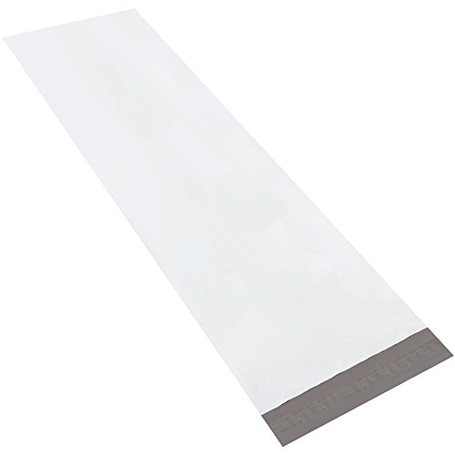 BOX USA BLPM1345 Long Poly Mailers, 13'' x 45'', White (Pack of 50) by BOX USA