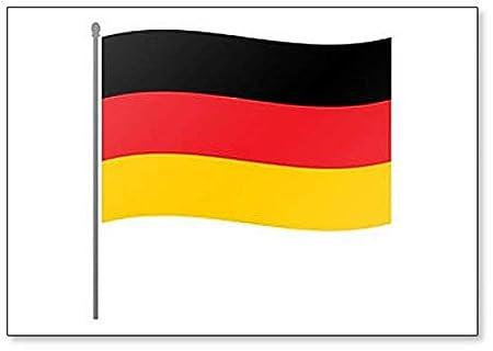 Imán para nevera, diseño de bandera alemana en el mástil de ...