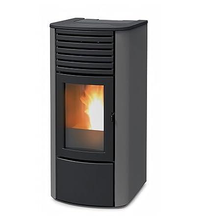 termoestufa A pellets MCZ Clio Hydro 16 de 16,25 KW, Ventilación frontal, Gris: Amazon.es: Hogar