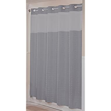 Hookless RBH43MY043 Litchfield Shower Curtain -  Frost Gray