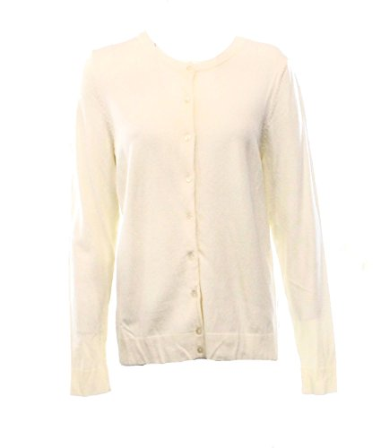 Charter Club Women's Long Sleeve Classic Cardigan Sweater, Vanilla Bean (Large) ()