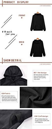 Lifestylle BTS Sweatshirt Jungkook Pullover Hoodies Rap Monster Love Yourself Her Kpop Casual Hooded Sports Sweater(XL-Large, Black) by Lifestylle (Image #3)