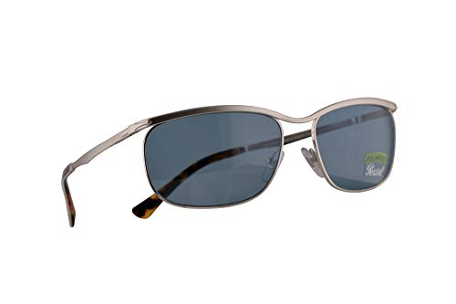 Persol 2458-S Key West Sunglasses Silver w/Polarized Green 62mm Lens 518P1 PO 2458S PO2458S - Silver Sunglasses Persol