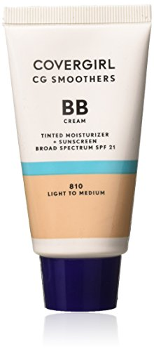 COVERGIRL Smoothers Lightweight BB Cream, 1 Tube (1.35 oz), Light to Medium Skin Tones, Hydrating BB Cream with SPF 21 Sun Protection (packaging may vary)