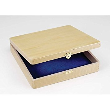 Darice Bulk Buy DIY Cigar Box Unfinished 8-3/8 x 8-1/8 x 1-7/8 inches (3-Pack) 9180-06