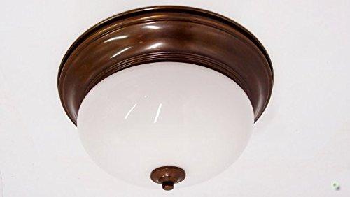 Plafoniere Messing : Deckenlampe messing gebürstet glas cm plafoniere milchglas