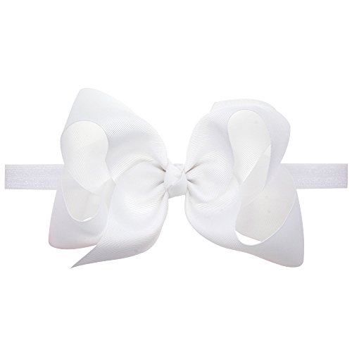 (LD DRESS Baby Girls Infant Headbands With Kids Hair Bows(16) (White))