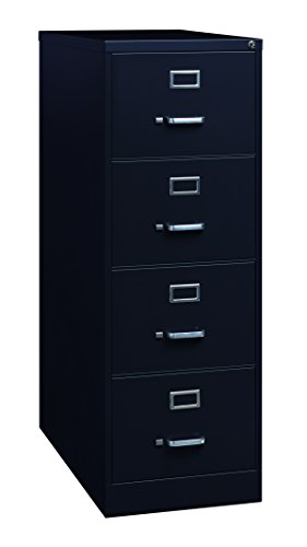 Four Drawer Black - Pro Series 22320 Four Drawer Legal Vertical File Cabinet, 26.5