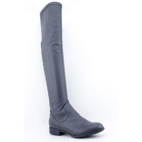 Kathy Van Zeeland Gia Womens Størrelse 9,5 Svart Fashion Over Kneet Støvler