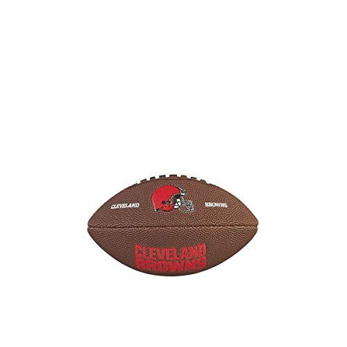 Cleveland Browns Soft Football - Wilson WTF1533IDCL NFL Team Logo Mini Size Football - Cleveland Browns