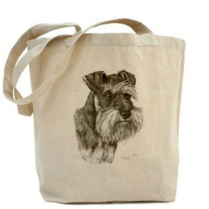 Natural Dog Bag Cotton Schnauzer Shopper Mike Tote CANVAS Sibley xpAE8wxqX