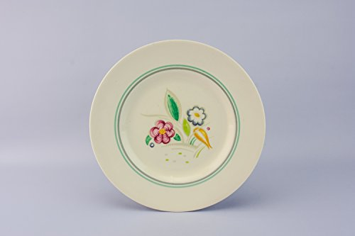 6 Spectacular Vintage MEDIUM PLATES Floral Pottery Susie Cooper Kitchen Mid-Century Modern Mid 20th Century English LS