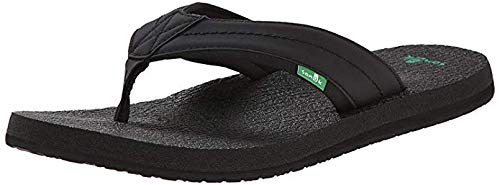 Mens flip 41 2 slipper Cozy Us Eur Flops Black m 8 Sandal Beer D Sanuk Footwear qdCTRq