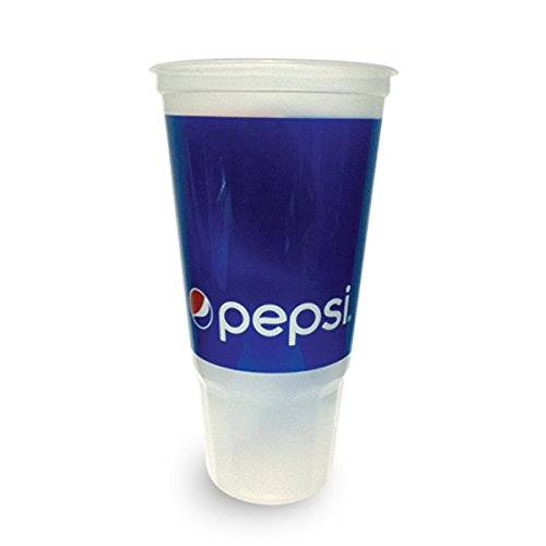 Plastic Cups with Lids - 44 oz Pepsi Disposable Drinking Cups for Water, Soda & Soft Drinks - 170 - Plastic Tumbler Promotional Large
