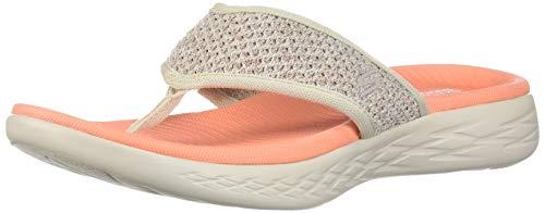 Orange Go Womens On Toe Sandals Skechers Taupe Post The 600 vfwqxcFUA