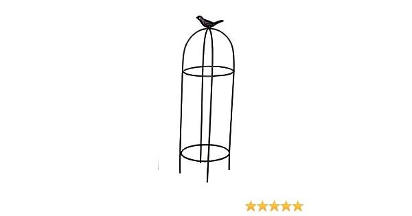 Mini de pérgola redondo H 37 Cm Metal Color Marrón Oscuro Rank Torre ayuda de escalada: Amazon.es: Jardín
