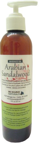 Arabian Sandalwood Body Oil / Massage Oil 8 fl. oz. with All Natural Plant (Arabian Amber Oil)