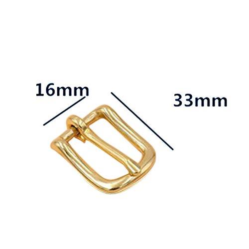 MOPOLIS 2pcs Metal Hand Bag Shoe Strap Belt Rectangle Adjust Roller Pin Buckle Snap Kit | Size - 16mm