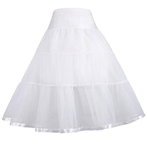 GRACE KARIN Girls Black Vintage Petticoat Crinoline Tutu Underskirts 10-12 yrs 460-2 by GRACE KARIN