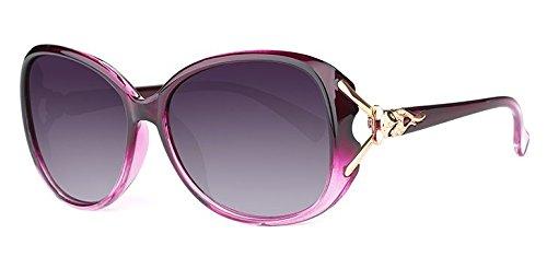 Xue zhenghao De Luz Polarizada Gafas Redondas Sol Sol Gafas De polarisiertes lila Purpura Mujer licht para Cómodas rrdOnwWqx
