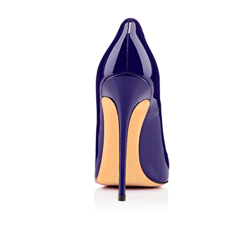 Grande Fonce Femmes uBeauty Taille Aiguille Talon Chaussures Bleu Chaussures Stilettos Escarpins Femme Talons HaRwR74qY