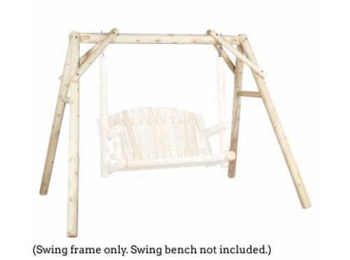 Wooden Swing Stand - Outdoor Swing Frame Only - 5 ft Cedar