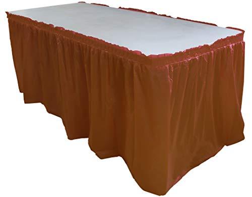 Burgundy plastic table skirt (Skirt Burgundy Table)