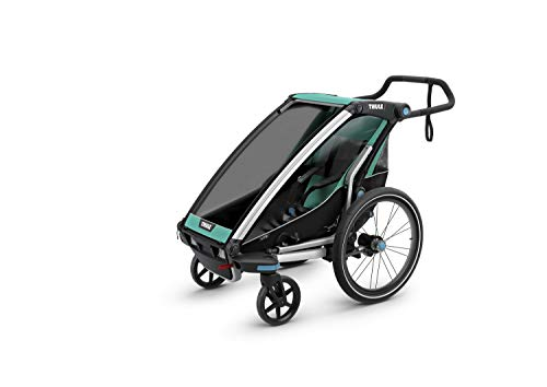 Thule Chariot Lite Sport Stroller - Double -Blue Grass/Black