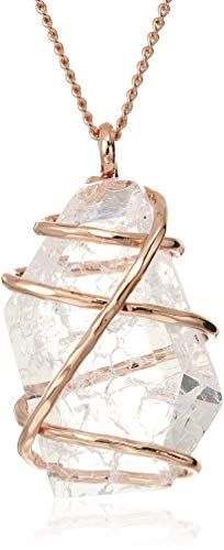 Robert Lee Morris Soho Caged Stone Pendant Necklace, Crystal