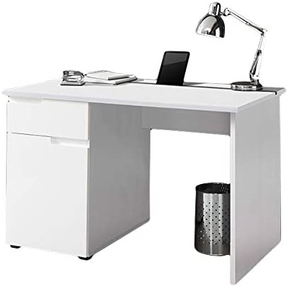 Escritorio Blanco Brillante B 120 cm PC Ordenador Mesa Escritorio ...