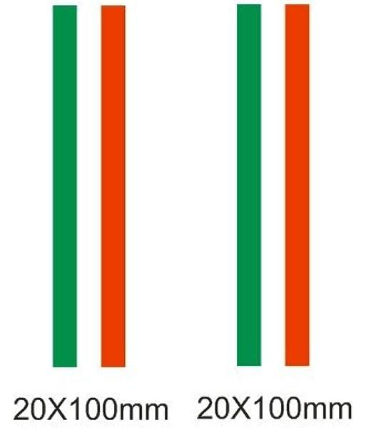 Lote 2 pegatinas vinilo impreso para coche, pared, puerta, nevera, carpeta, etc. Bandera de italia: Amazon.es: Coche y moto