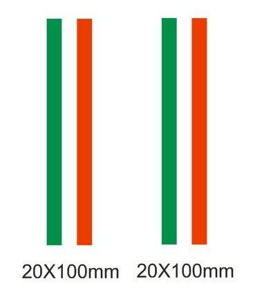 Lote 2 pegatinas vinilo impreso para coche, pared, puerta, nevera, carpeta, etc. Bandera de italia SUPER STICKER