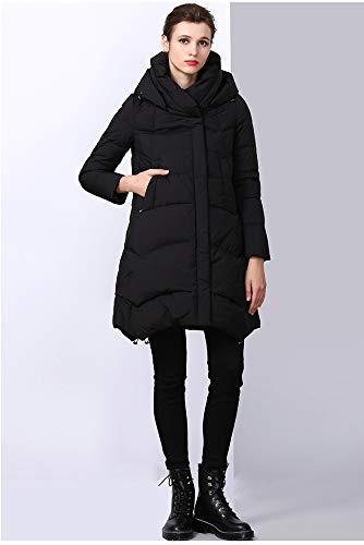 Azw A Lunga E Nero Slim Autunno Piumino Donne Piumino Cappotto Inverno Caldo Sezione Slim rq1rw