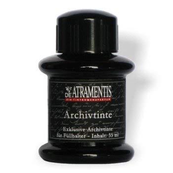 (De Atramentis® Archive Ink-Black 35ml fountain pen bottled ink)