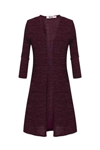 Casuale Donna Battercake Eleganti Slim Squisito Fashion Giubotto Outerwear Autunno Nero Lunghe Giacca Casual Aperto A Maniche Fit Maglia Lunga Forcella Rosso Donne Giaccone 5w5tPrx